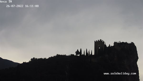 View of the castle of Arco (Trento) with our webcam and weather situation